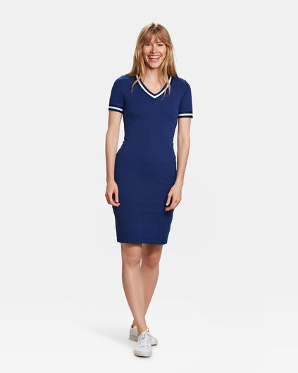 DAMES SPORTY DETAIL JURK Marineblauw