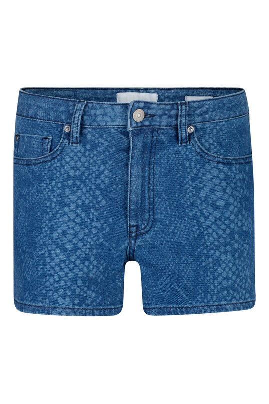Short denim à motif serpents femmes Bleu