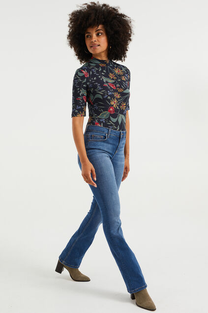 Dames high rise flared jeans Blauw