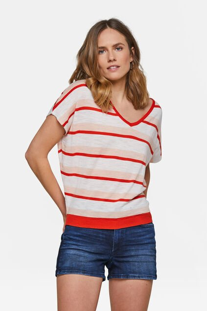 TOP FUN STRIPE FEMME Rouge