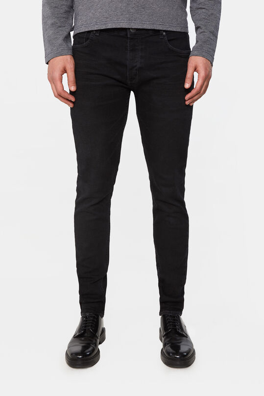 Heren skinny fit super stretch jeans Zwart