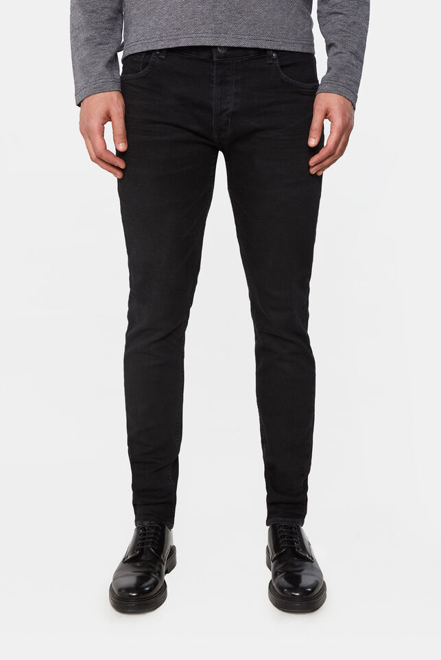Jeans skinny fit super stretch homme Noir