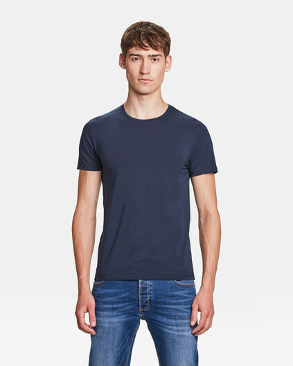 HEREN ORGANIC COTTON T-SHIRT Donkerblauw