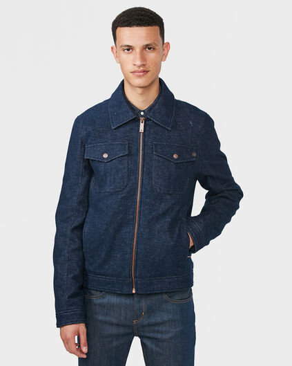 HEREN TRUCKER JACKET Donkerblauw