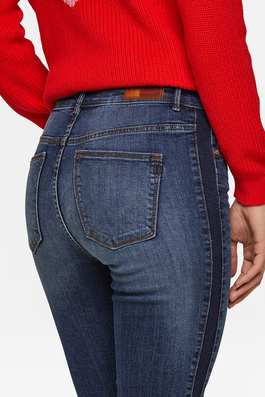 Dames high rise skinny cropped jeans Donkerblauw