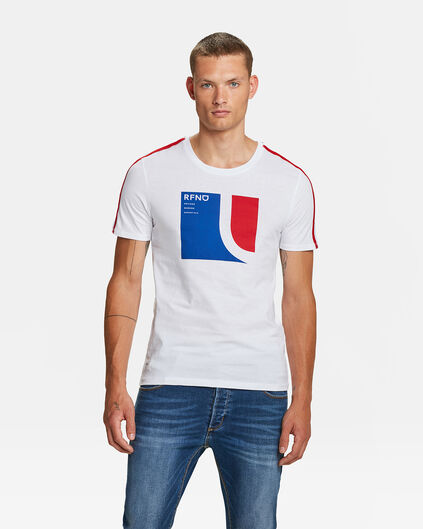HEREN LOGO PRINT T-SHIRT Wit