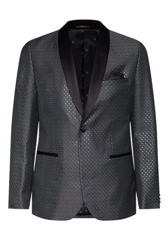 Heren slim fit blazer Groen
