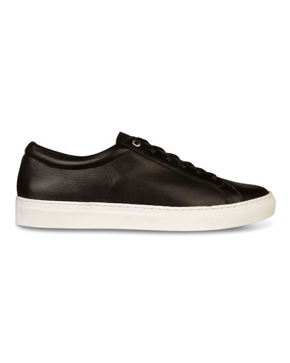 HEREN REAL LEATHER SNEAKERS Zwart