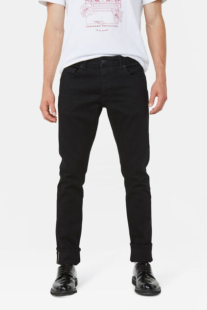 Jeans slim tapered homme Noir