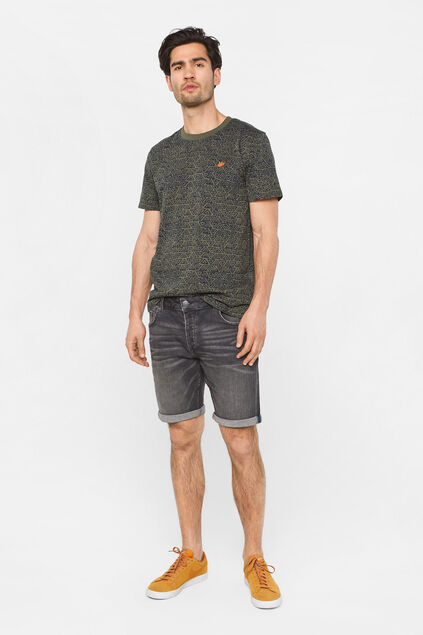Heren regular fit denimshort Zwart