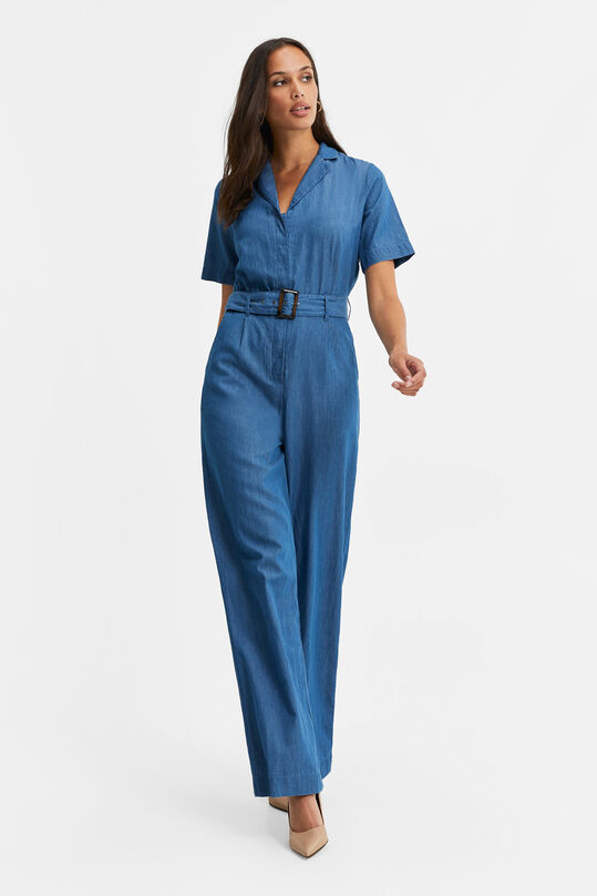 Dames denim jumpsuit Blauw