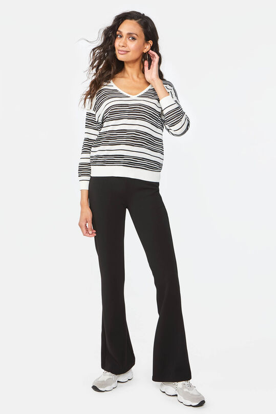 Dames slim fit flared broek Zwart
