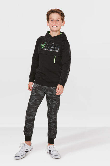 JONGENS SLIM FIT CAMOUFLAGE SWEATPANTS Grijs