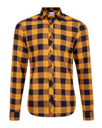 CHEMISE SLIM FIT CHECKED HOMME_CHEMISE SLIM FIT CHECKED HOMME, Or
