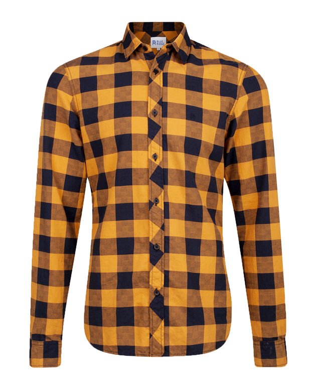 CHEMISE SLIM FIT CHECKED HOMME Or