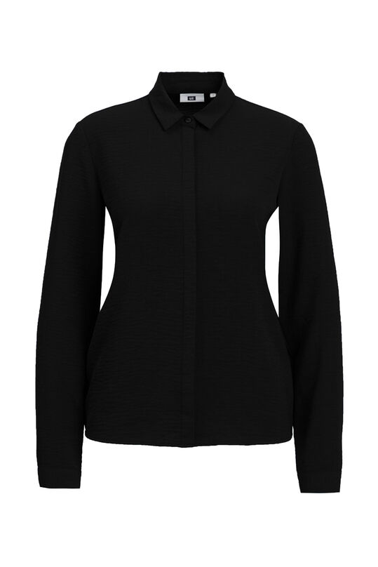 Dames solid blouse Zwart