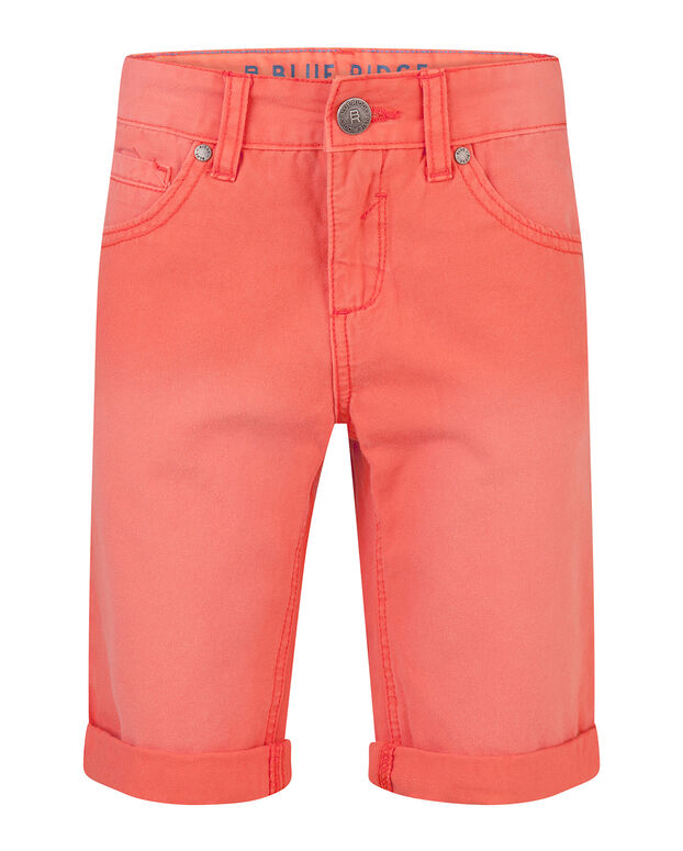BERMUDA GARMENT DYE REGULAR FIT GARÇON Orange vif