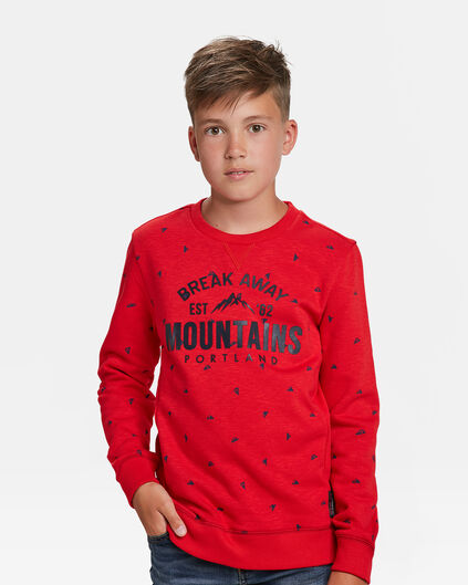 SWEAT-SHIRT IMPRIMÉ MOUNTAINS GARÇON Rouge vif
