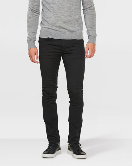 PANTALON SKINNY TAPERED SUPER STRETCH HOMME Noir