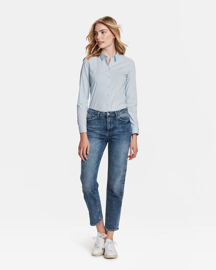 DAMES HIGH RISE STRAIGHT JEANS Blauw