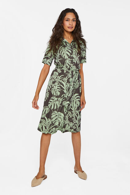 Dames jurk met dessin All-over print