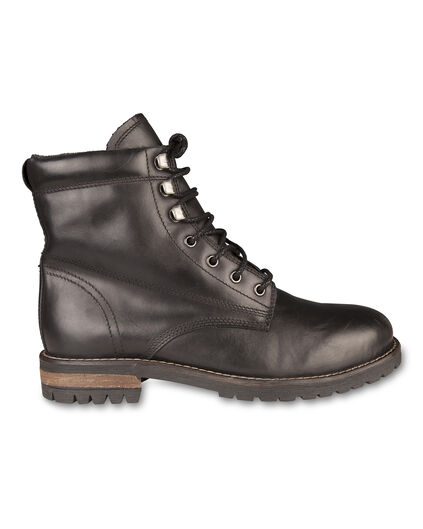 HEREN REAL LEATHER BOOTS Zwart
