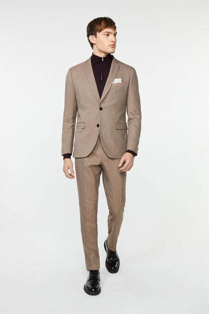 Costume slim fit Bryan Sepia homme