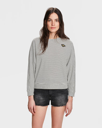 DAMES BRETONSTRIPE SWEATER Wit