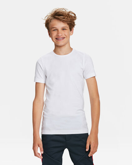 JONGENS BASIC T-SHIRTS,  2-PACK Wit