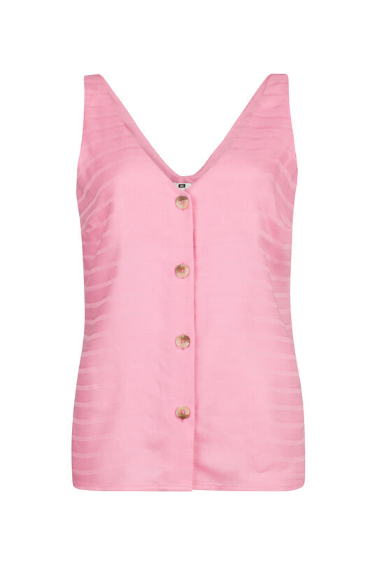 Dames knoopdetail top Roze