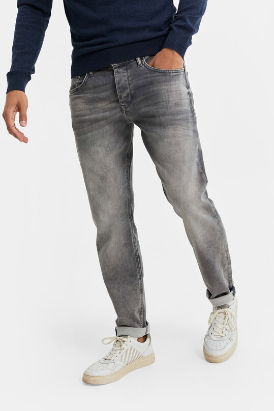 Heren athletic fit jog denim jeans Lichtgrijs