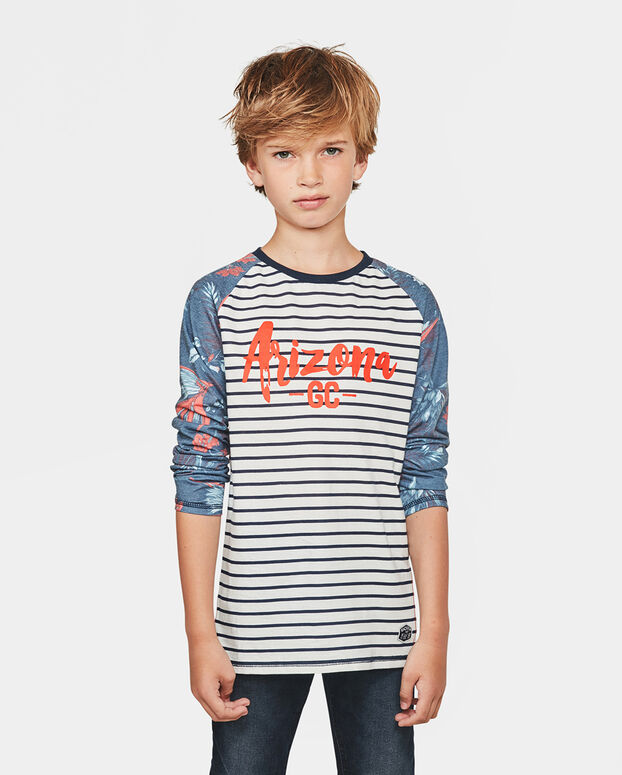 JONGENS ARIZONA PRINT SHIRT Wit