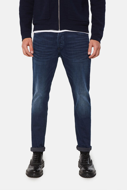 Heren slim fit super stretch jeans Donkerblauw