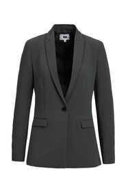 Dames regular fit blazer_Dames regular fit blazer, Grijsgroen
