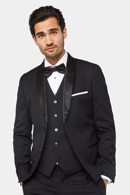 Veste de smoking slim fit homme Noir