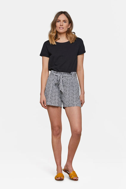 Dames high waist short Wit