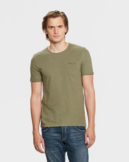 HEREN SLIM FIT R-NECK T-SHIRT Olijfgroen