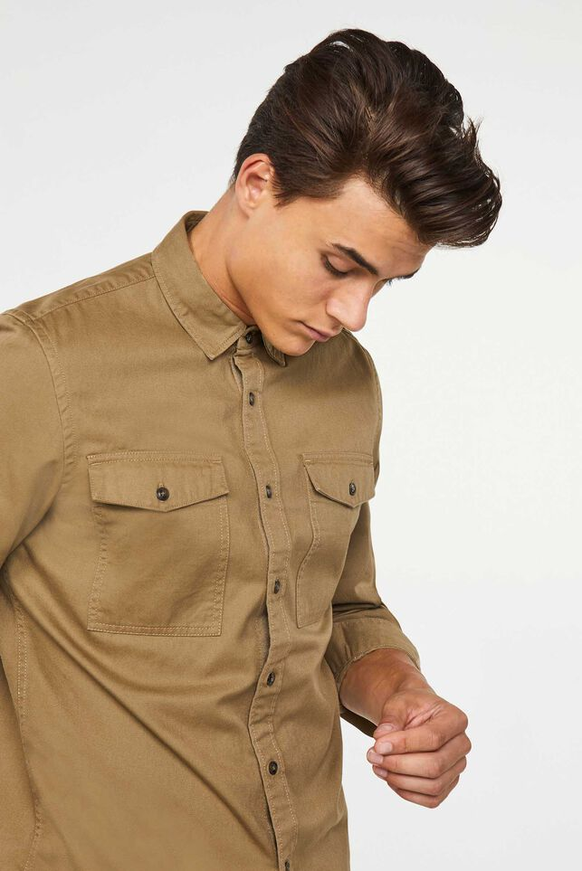 Heren Blue Ridge overhemd Khaki