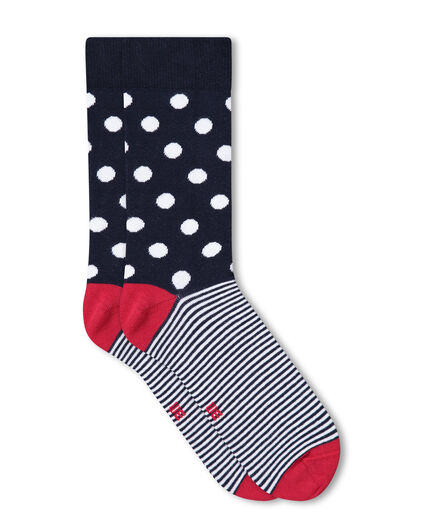 CHAUSSETTES A POIS HOMME Rouge