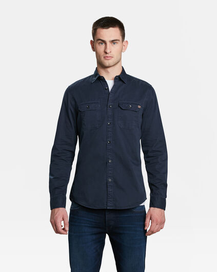 HEREN RELAXED FIT OVERHEMD Donkerblauw