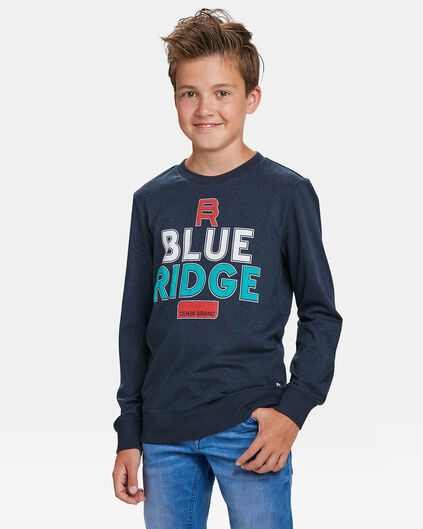 JONGENS BLUE RIDGE T-SHIRT Marineblauw