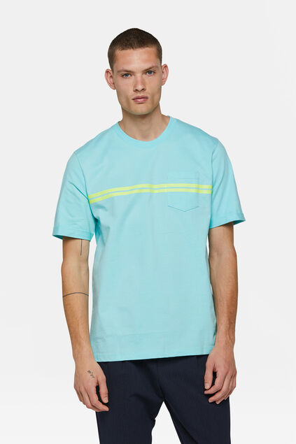Heren loose fit T-shirt Turquoise