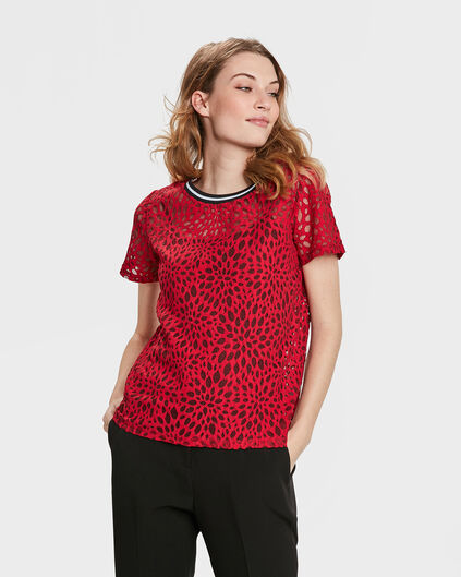 DAMES LACE TOP Rood