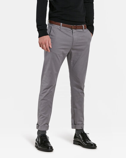 SLIM FIT PANTALON HOMME Gris