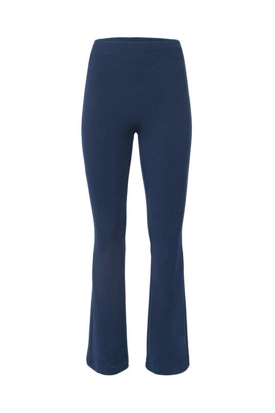 Dames slim fit flared broek Donkerblauw