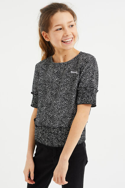 Meisjes blouse met stippendessin All-over print