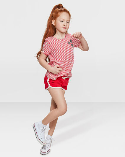 SHORT SWEAT PRINTED REGULAR FIT FILLE Rouge