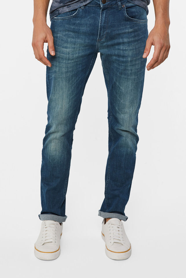 Heren regular fit super stretch jeans Grijsblauw