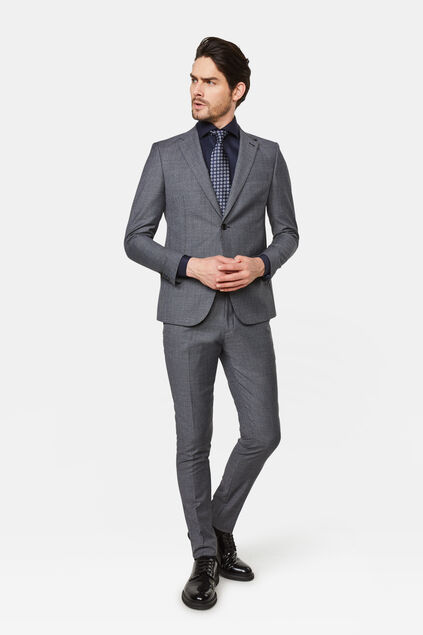Slim fit pak met pied-de-poule dessin Messina