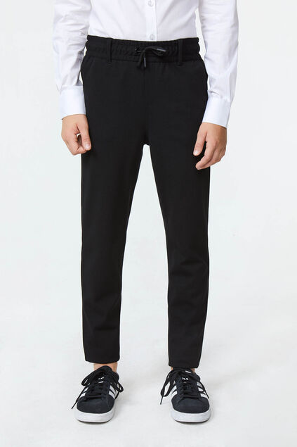 Jongens slim fit pantalon Zwart